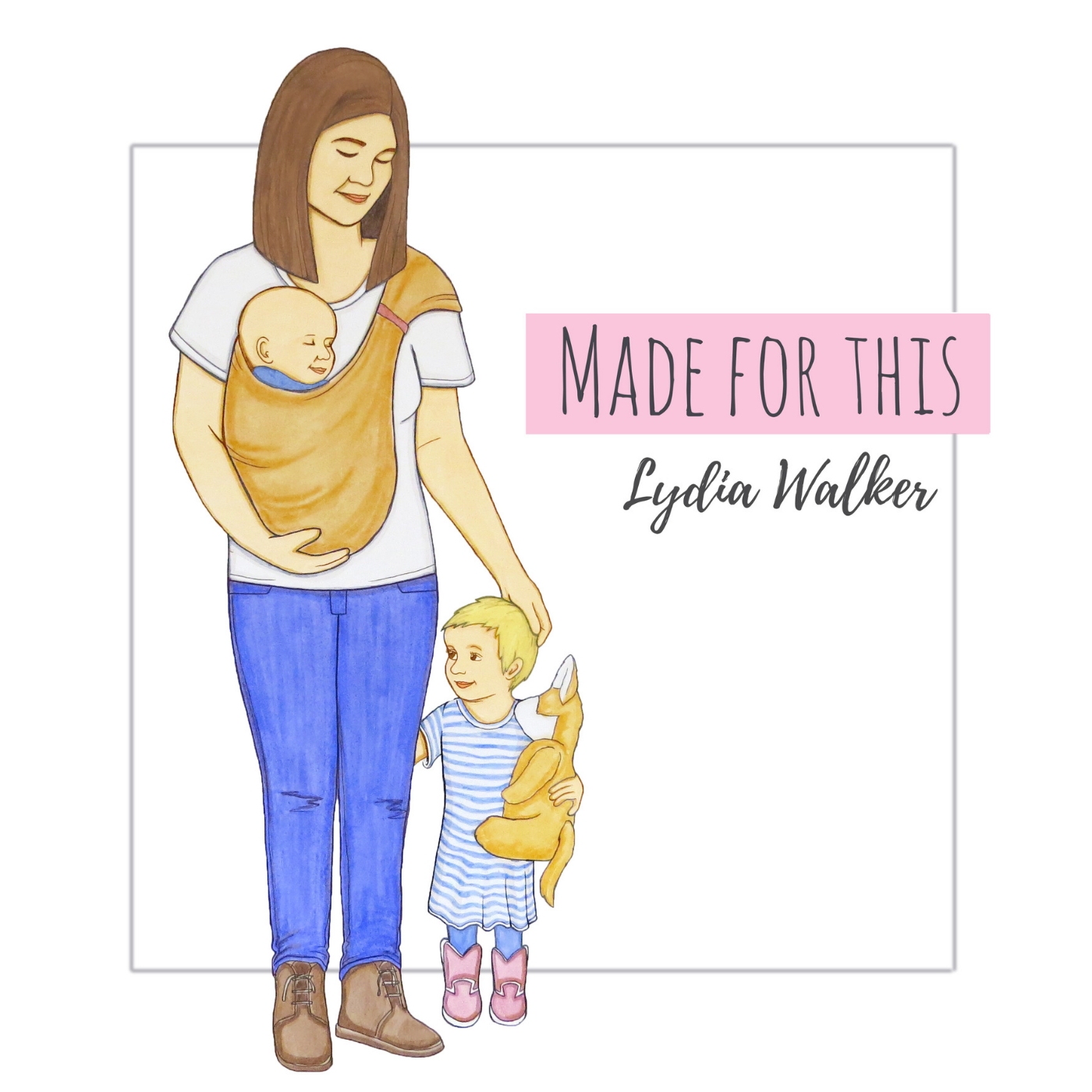 made for this album cover mom with baby and toddler
