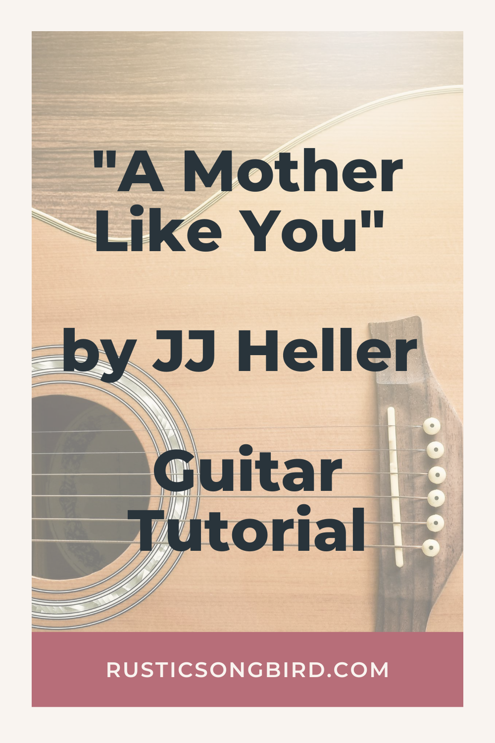acoustic guitar background with text of the title of the blog post called